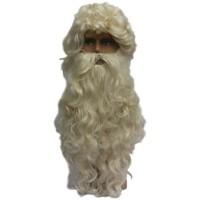 Sinterklaas baard met pruik + snor Basic
