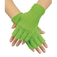 Vingerloze handschoenen fluo groen