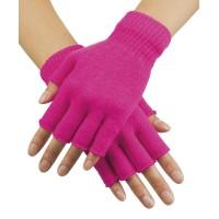 vingerloze neon handschoenen fluo roze