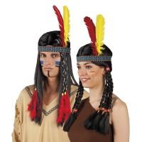 Indianentooi Hoofdband met 2 veren
