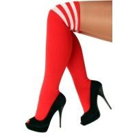 Lieskousen rood met witte strepen