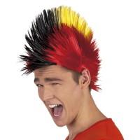 Belgie supporters pruik Punk Hanekam