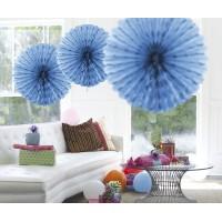 Honeycomb Fan Papier Blauw 45cm
