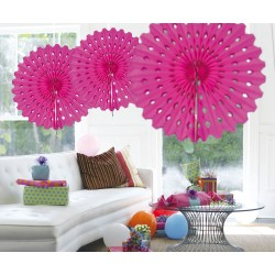 Honeycomb Fan Papier Magenta 45cm