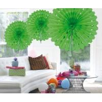 Honeycomb Fan Papier Limegroen 45cm