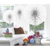Honeycomb Fan Papier Wit 45cm