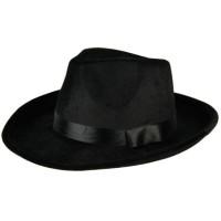 Gangsterhoed fluweel zwart