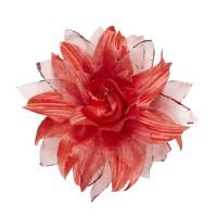 Hawaii bloem haarclip glitter rood