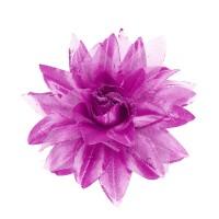 Hawaii bloem haarclip glitter lila