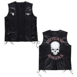 Bikervest lederlook Outlaw bikers