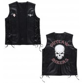 Bikervest lederlook Outlaw bikers shirt