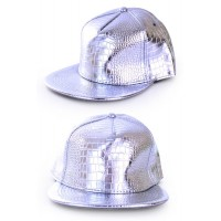 Hiphop pet zilver rapper cap