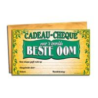 Cadeau Cheque Beste Oom