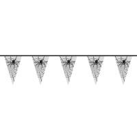 Halloween decoratie vlaggenlijn spin 6m
