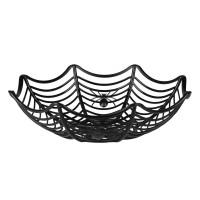 Halloweenmandje spinnenweb 27cm