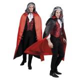 zwarte rode cape halloween vampier dracula kleding kostuums