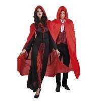 Rode cape met cap Dusk 180cm