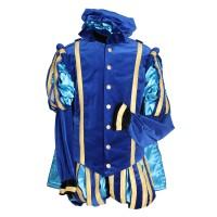 Zwarte Pietenpak luxe Malaga blauw/turquoise