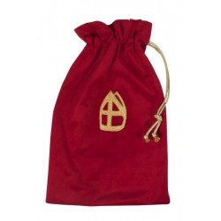 Luxe strooizak voor Zwarte Piet rood