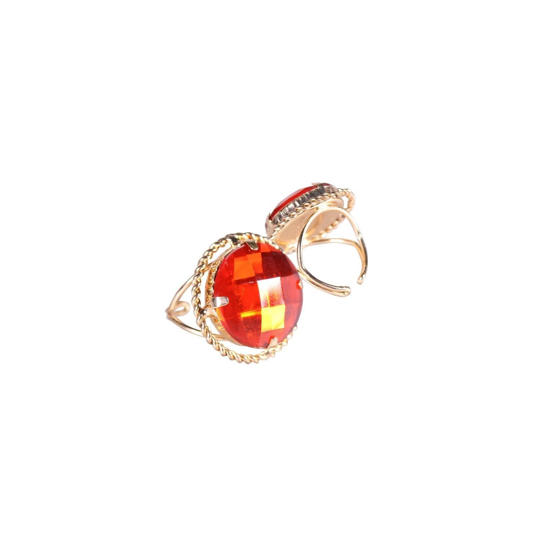 Sinterklaas ring sinterklaasring rond goud/rood