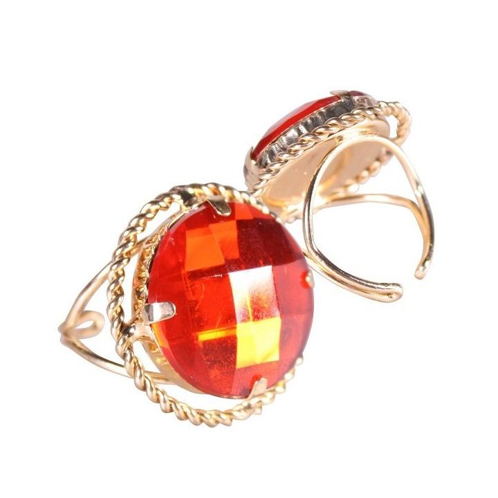 Sinterklaas ring rond goud/rood