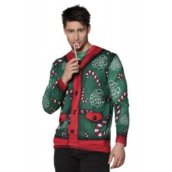 Foute Kerst shirt Candy Cane