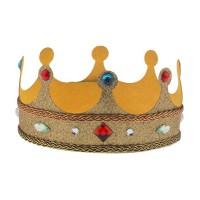 Koningskroon vilt goud met steentjes