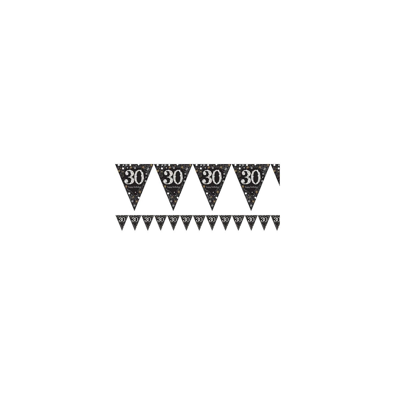 slingers 30 jaar Verjaardag slinger 30 jaar   Vlaggenlijn   Jokershop.be feestwinkel slingers 30 jaar