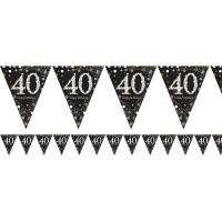 Verjaardag slinger vlaggenlijn 40 jaar