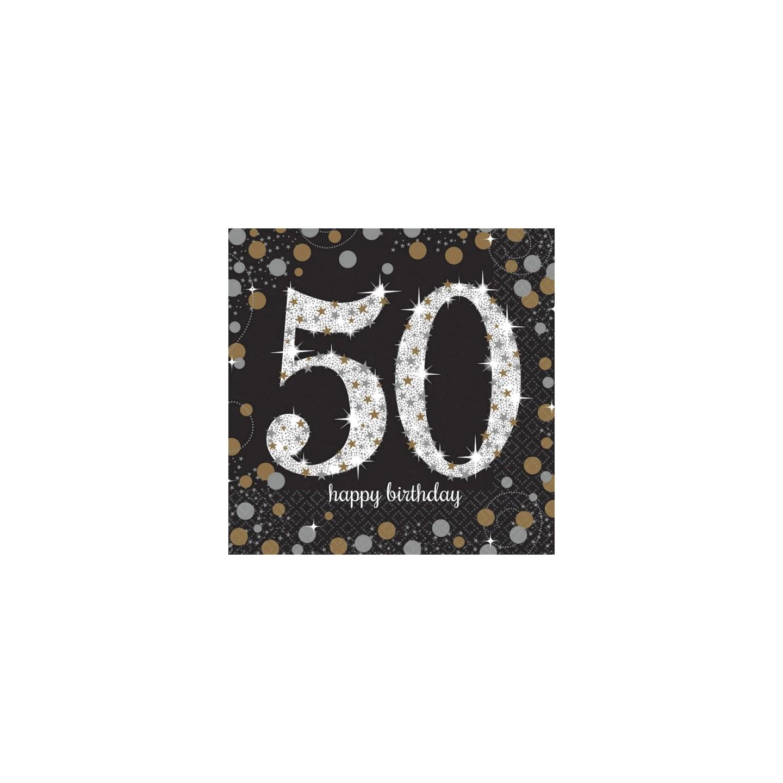Verjaardag Servetten 50 Jaar Vlaggenlijn Jokershop Be Feestwinkel