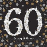 Verjaardag servetten 60 jaar (16st)