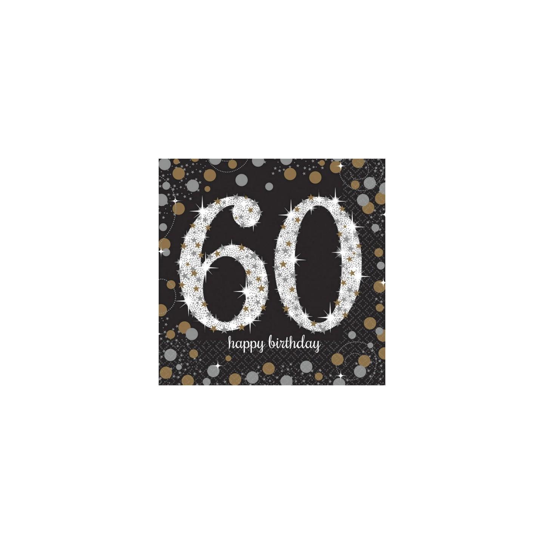 Verjaardag servetten 60 jaar vlaggenlijn for Decoratie 60 jaar