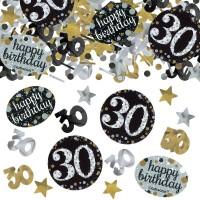 Verjaardag tafel confetti 30 jaar