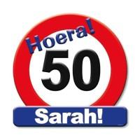 Huldeschild 50 jaar Sarah
