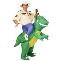 Instap kostuum Dino opblaasbaar pak