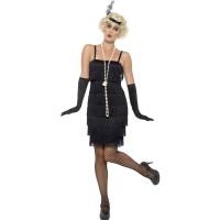 Charleston jurk zwart dames kort