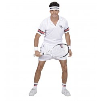 Jaren 80 retro tennis outfit heren kostuum