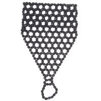 Kralen armband met vingerhandschoen zwart