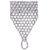 Kralen armband met vingerhandschoen zilver