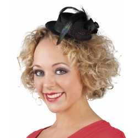 Burlesque hoedje Nicolette Mini hoedje