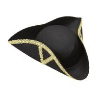Historische hoed driesteek zwart