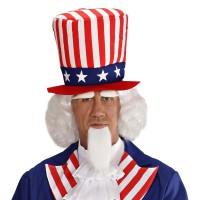 Pruik Uncle Sam baard wenkbrauwen sik