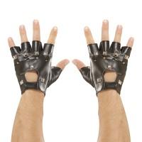 Biker handschoenen Leder met beslag