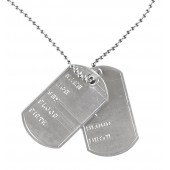 Dog tag ketting leger Soldaten naamplaatje