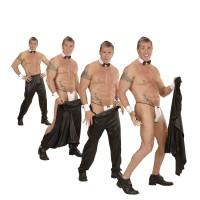 Stripper broek zwart Striptease broek heren