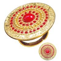 Romeinse ring goud en rood