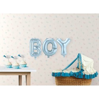 "Geboorte versiering Folie ballon kit ""BOY"""