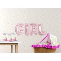 "Geboorte versiering Folie ballon kit ""GIRL"""