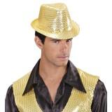 disco glitter hoed glitterhoedje goud