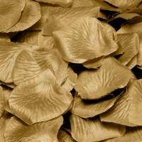 Gouden rozenblaadjes 144 stuks